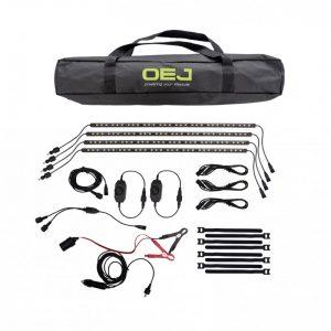 OEJ | 4 Bar LED Camp Light Kit | Dimmer | Magnet & Sticking Material Wrap New