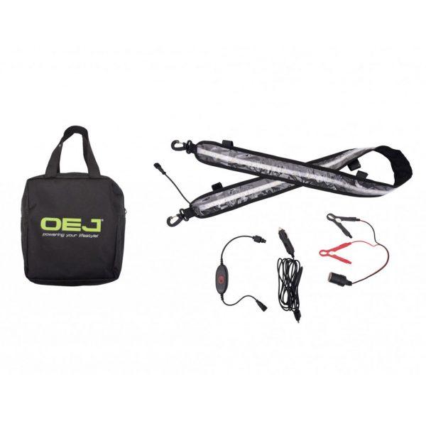OEJ   130cm LED Dual Colour Flexible Light Strip Kit   white/orange   Dimmer   New